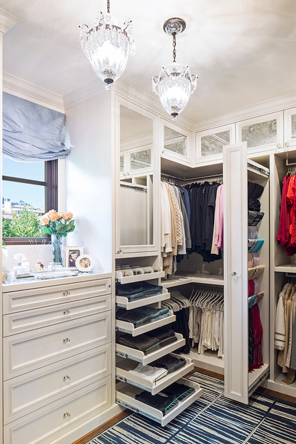 scarf organizer Closet Traditional with antique mirror CEILING LIGHT