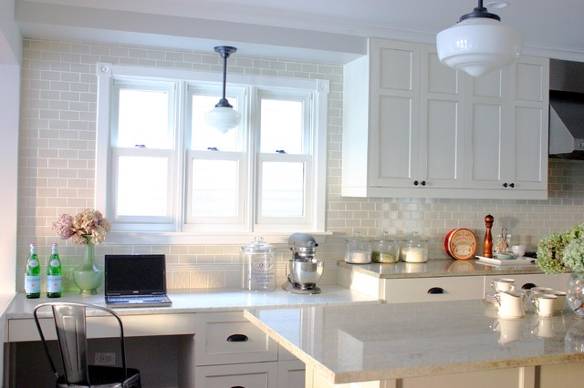 Schoolhouse Lighting Kitchen Traditional with Desk Glass Canisters Island