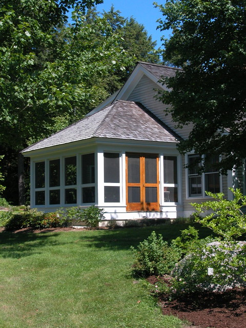 Screened in Porch Ideas Porch Traditional with All Season Room Bark