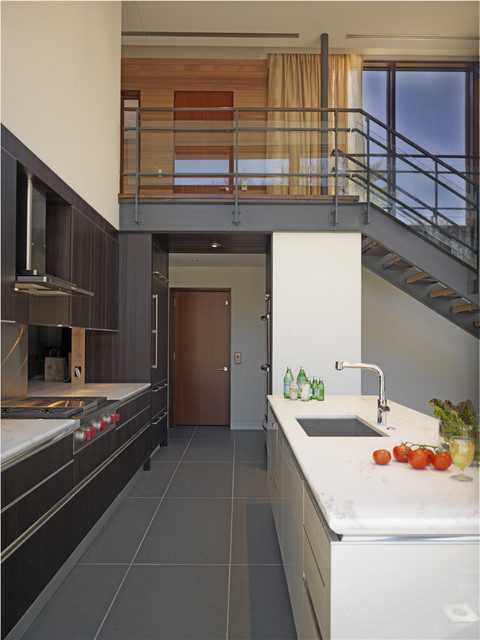 Sealing Grout Kitchen Contemporary with Banister Curtains Dark Floor