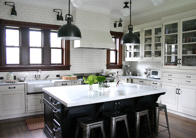 sealing grout Kitchen Traditional with black farmhouse sink glass