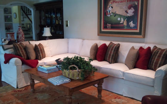 Sectional Sofa Slipcovers Family Room Contemporary with Custom Made Denim Family Room