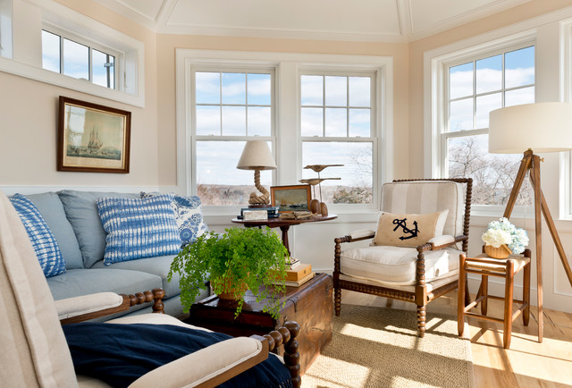 self watering pots Family Room Victorian with beach house China Seas