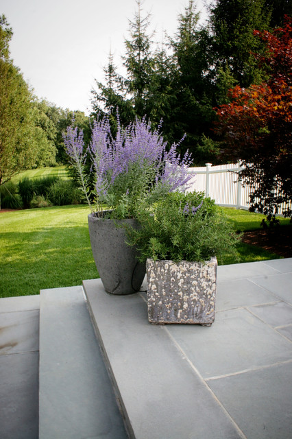 Self Watering Pots Landscape Contemporary with Fencing Landscaping Lawn Outdoor