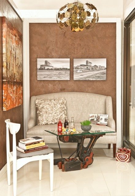 Setee Living Room Industrial with Art Detroit Green Fabrics