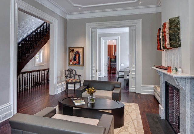 shaker beige Living Room Contemporary with ceiling detail ceiling molding