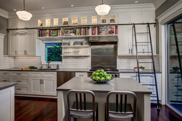 Shaker Cabinet Doors Kitchen Craftsman with Cookbooks Gas Ranges Glass
