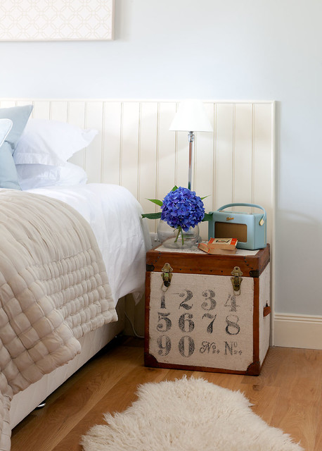Sheepskin Rugs Bedroom Transitional with Bedside Table Beige Bedding