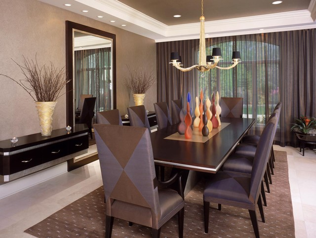 Sheer Curtain Panels Dining Room Modern with Area Rug Chandelier Crown