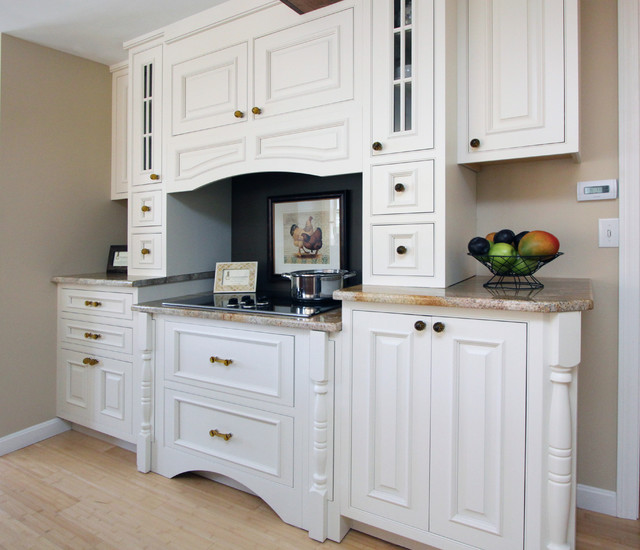 Sherwin Williams Kilim Beige Kitchen Traditional with Electric Cooktop Footed Cabinets1