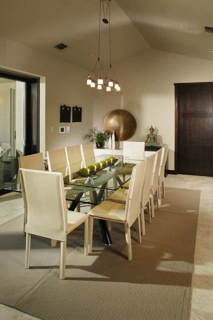 Sherwin Williams Wallpaper Dining Room Contemporary with Area Rug Buddha Chandelier