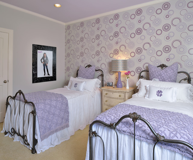 Sherwin Williams Wallpaper Kids Traditional with Bedding Bedroom Bellaire Custom