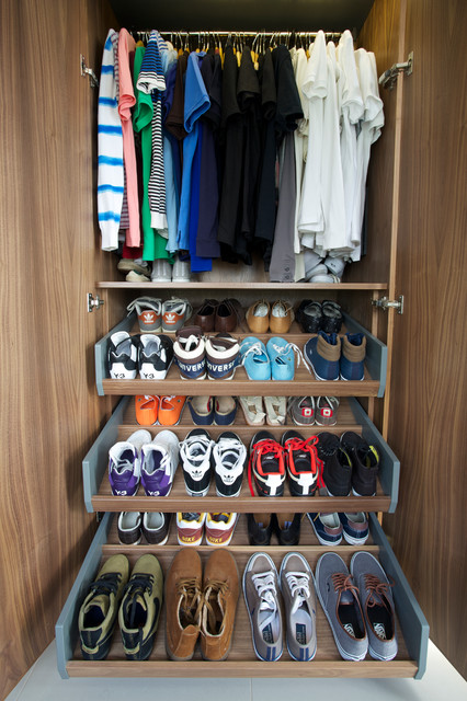 Shoe Racks for Closets Closet Contemporary with Bespoke Carpentry Carpentry Closet