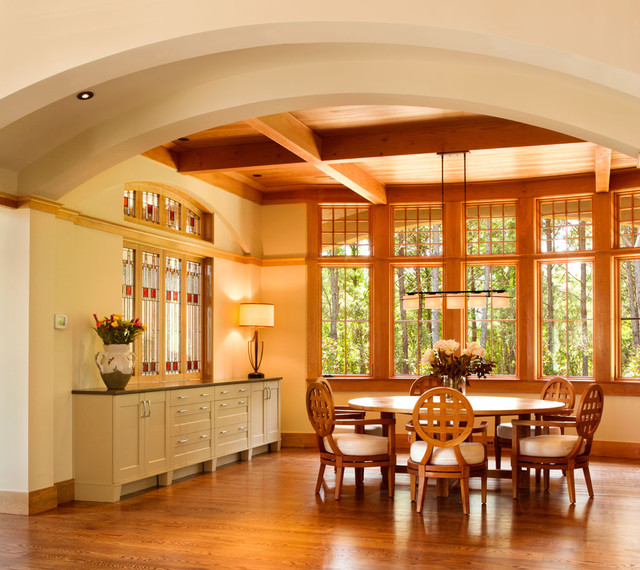 Sideboard Buffet Dining Room Traditional with American Craftsman Style Arched