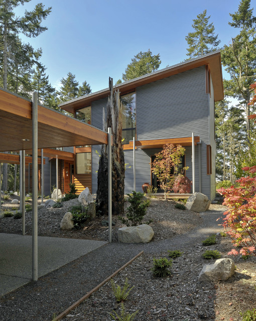 Sikkens Cetol Srd Exterior Contemporary with Boulder Ceiling Lighting Covered