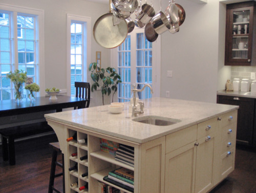 Single Handle Kitchen Faucet Kitchen Eclectic with Cream Painted Island Kitchen