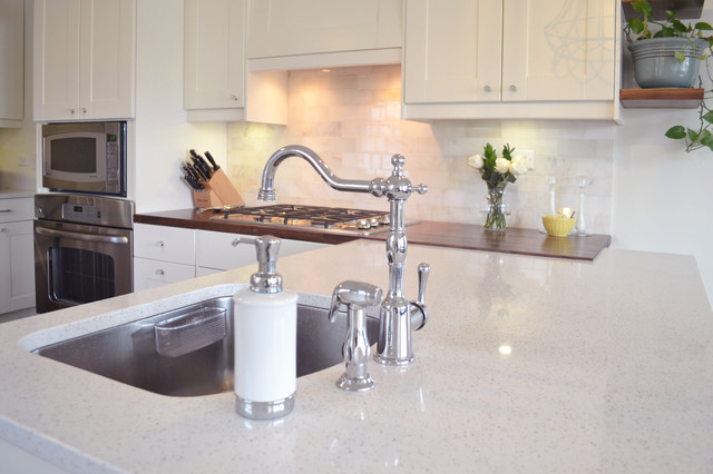 Single Handle Kitchen Faucet Kitchen Traditional with Antiqued Light Fixtures Cooktop