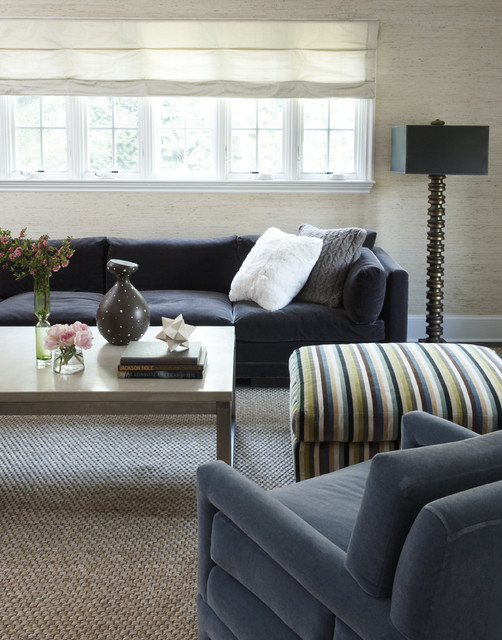 Sisal Carpet Living Room Contemporary with Black Sofa Black Table
