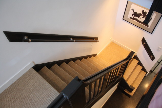 Sisal Carpet Staircase Contemporary with Categorystaircasestylecontemporarylocationamsterdam