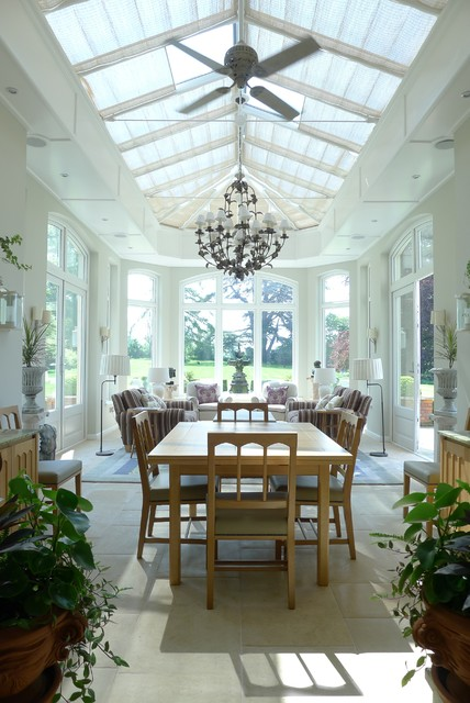 Skylight Shades Sunroom Traditional with 4 Seasons Room Arched