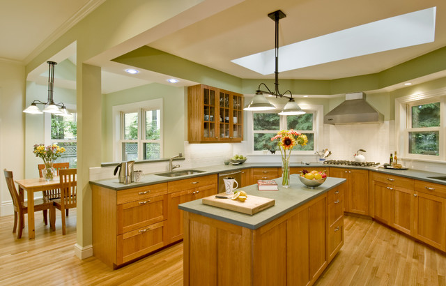 Slate Countertops Kitchen Traditional with Breakfast Nook Chandelier Countertop