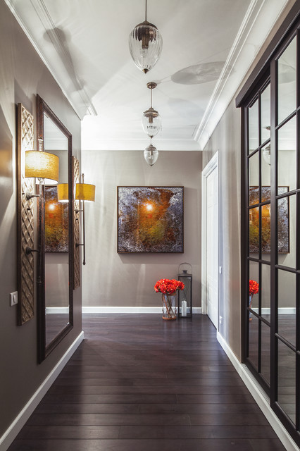 Sliding Mirror Closet Doors Hall Eclectic with