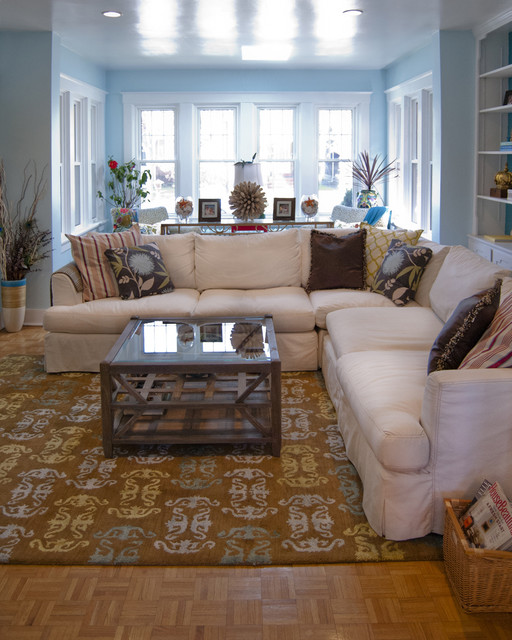 Slipcovered Sectional Living Room Eclectic with Categoryliving Roomstyleeclecticlocationphiladelphia