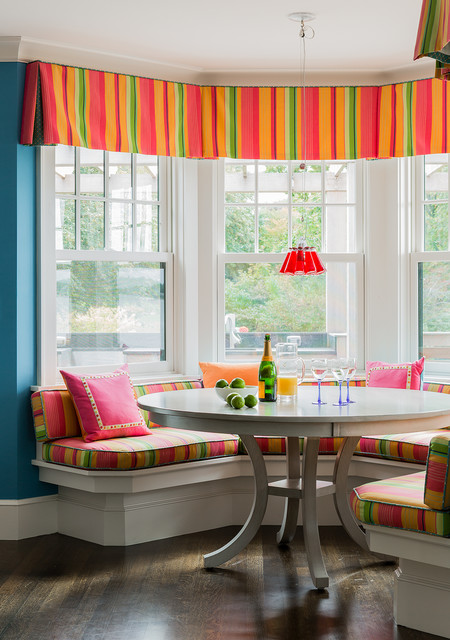 Small Dinette Sets Dining Room Transitional with Banquette Breakfast Nook Built1