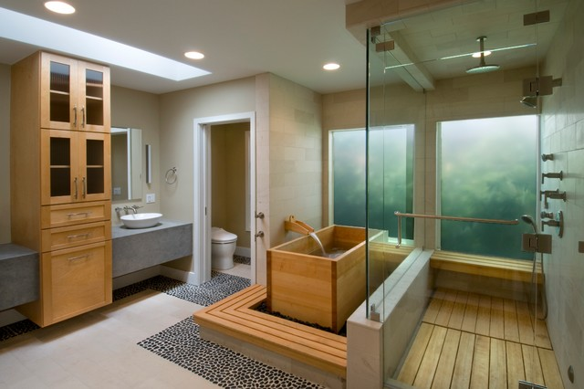 Soaking Tubs Bathroom Contemporary with Bath Bathroom Ceiling Lighting
