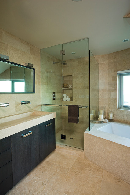 solid core interior doors Bathroom Modern with bathtub contemporary Contemporary interior