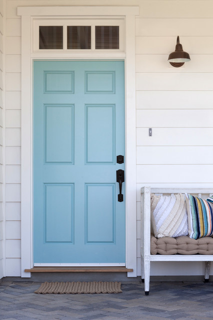 Solid Core Interior Doors Entry Farmhouse with Aqua Blue Door Barn