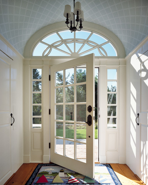 Solid Core Interior Doors Entry Victorian with Arched Transom Barrel Ceiling