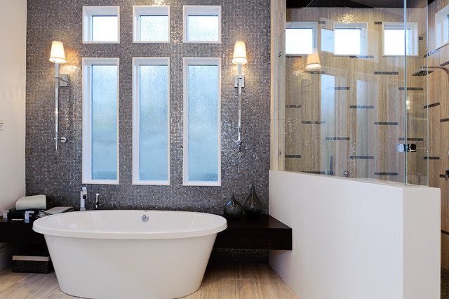 Sonoma Tile Bathroom Modern with Built in Bech Seat2