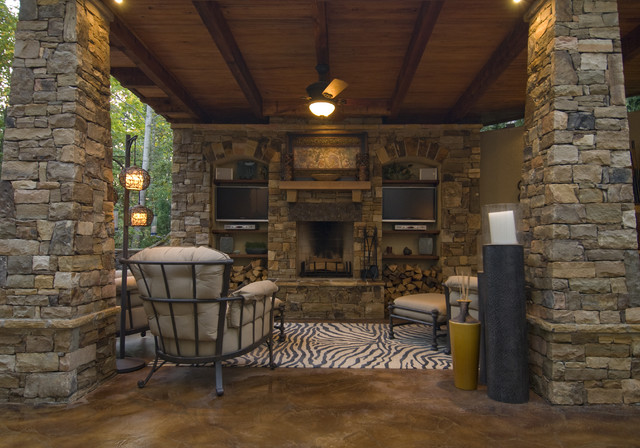 Staining Concrete Floors Patio Contemporary with Animal Print Built in Candle