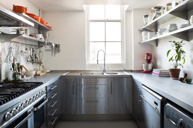 Stainless Steel Mixing Bowls Kitchen Scandinavian with Blackboard Wall Floating Stainless