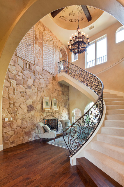 Stair Treads Carpet Staircase Mediterranean with Arch Arched Window Archway