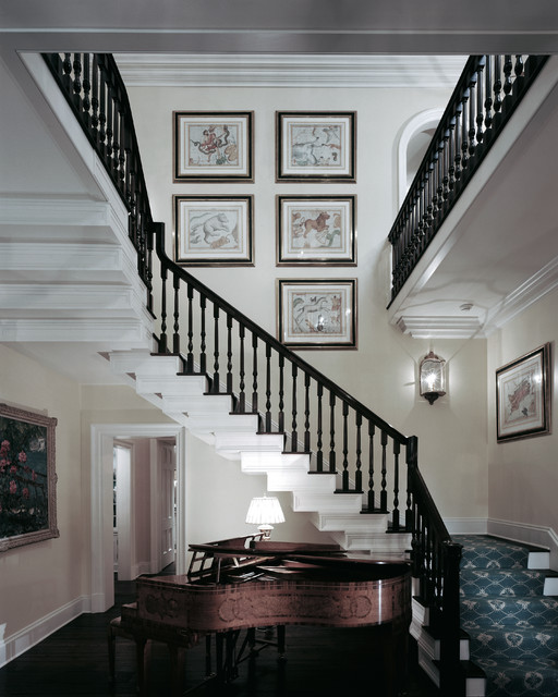 Staircase Railing Staircase Traditional with Beige Wall Black Staircase