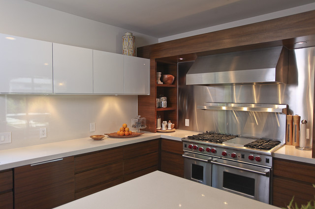 statewide remodeling Kitchen Contemporary with kitchen shelves minimal range