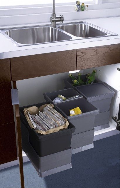 Storage Bins with Lids Kitchen Contemporary with Recycling Bins