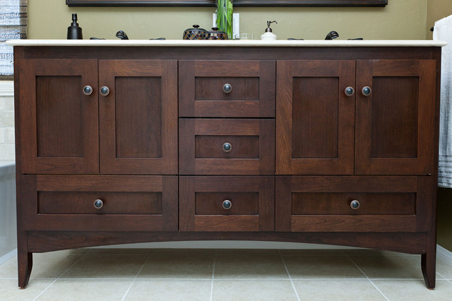 Strasser Woodenworks Bathroom Traditional with Bathroom Remodeling Chocolate Cherry