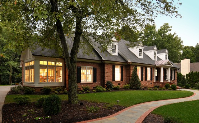 Sunroom Additions Exterior Traditional with Breakfast Room Brick House