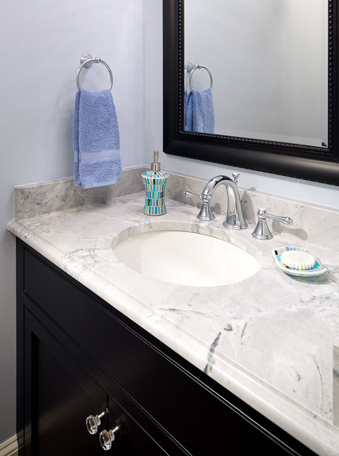 Super White Quartzite Bathroom Modern with Ogee Ogee Edge Quartzite