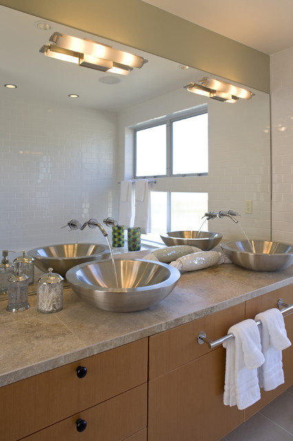 Swenson Granite Bathroom Contemporary with Beige Tile Floor Beige