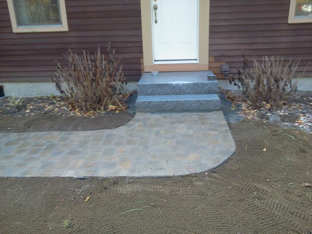 Swenson Granite Patio Farmhouse with Granite Paving Stones Walling