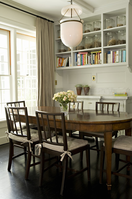 Switchplates Dining Room Transitional with Bell Pendant Bookshelves Canisters