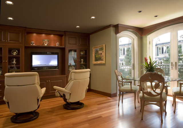 Swivel Recliner Living Room Contemporary with Ceiling Lighting Display Cabinets