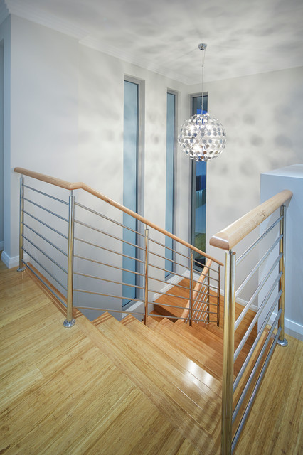 Tall Narrow Dresser Staircase Contemporary with 2 Storey Medium Wood