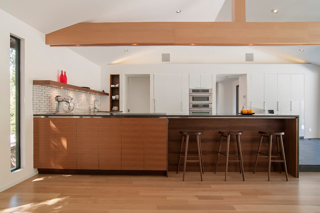 Tall Skinny Dresser Kitchen Contemporary with Built in Shelves Caesarstone Counter