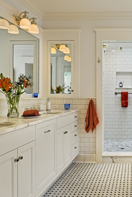 Tec Grout Bathroom Victorian with Bathroom Mirror Crown Molding