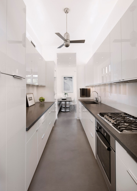 Thermofoil Cabinets Kitchen Contemporary with Breakfast Area Ceiling Fan